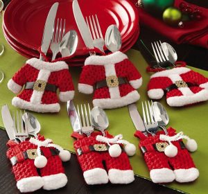 Fancy Santa Christmas Decorations Silverware Holders Pockets Dinner Table Decor pictures & photos