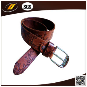 Wholesale High Quality Embossed Genuine Leather Belt for Unisex