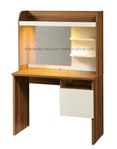 Modern Wooden Walnut&White Dresser with Mirror (B1023)
