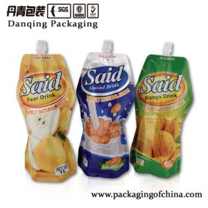 Orange Juice Plastic Packaging Bag with Spout Y0546 pictures & photos