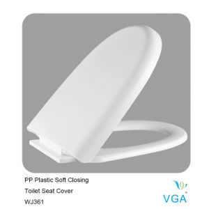 Toilet Seat Cover PP Plastic with Soft Closing Wj361