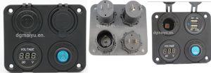 Power Plug Socket/Dual USB Ports Car Charger Socket/LED Digital Voltmeter/Switch pictures & photos