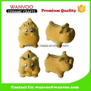 Popular Home Decoration Spray Fur Animal Piggy Bank Coin Bank pictures & photos