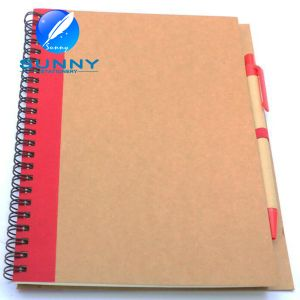 Promotional Spiral Notebook with Ballpen, Recycled Notebook with Ballpen pictures & photos