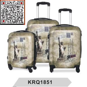 The Statue of Liberty Printing PC Travel Trolley Luggage pictures & photos