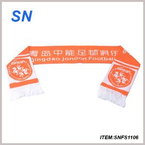 2015alibaba Hot Sell Football Scarf Fan Scarf 100%Acrylic Scarf pictures & photos