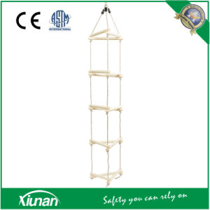 3 Sided Kids Climbing Ladder Wooden Rungs Rope Ladder pictures & photos
