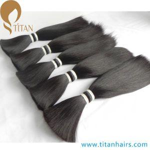 "8""-12"" Natural Black Inidan Remy Human Hair Bulk for Toupee"