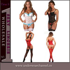 Adult Lingerie Bodysuits Sleepwear Pajamas Night Dress Uniform Underwear (2002) pictures & photos