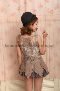 Women High Waist Hollow Crochet Chiffon Vest Dress pictures & photos