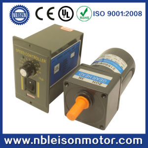 6W 110V 220V Low Rpm AC Induction Gear Motor with Speed Controller pictures & photos