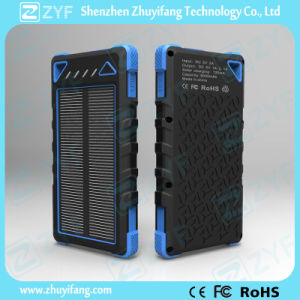 Outdoor Portable Water Proof 8000mAh Solar Power Bank (ZYF8021) pictures & photos