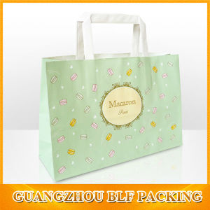 Cmyk Printing White Kraft Paper Shopping Bag Designs (BLF-PB329) pictures & photos