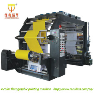 High Speed Four Colors Flexographic Printing Machine pictures & photos