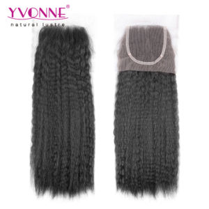 Kinky Straight Brazilian Hair Lace Closure pictures & photos
