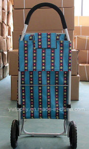 Portable Shopping Trolley with Aluminium Pipe Frame Luggage Cart pictures & photos