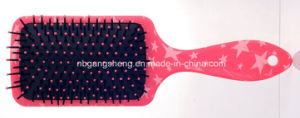 Fashionable Cosmetic Hairbrush Plastic Water Transfer Printing pictures & photos