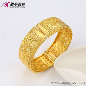 51349 Newest Fashion Nice Big Wide Eelgant Gold Jewelry Phoenix -Shaped Women Bangle in Environmental Copper pictures & photos