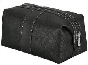 Men′s Leather Toiletry Toilet Makeup Wash Cosmetic Bag pictures & photos
