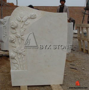 Europe Style Monuments China White Marble Tombstone pictures & photos