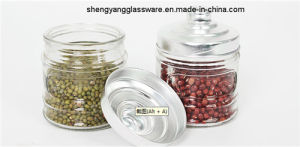 Free Sample Grain Storage Tank Glass Jar with Lid Kitchenware Glass Bottle Glassware pictures & photos