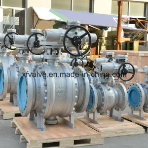 Trunnion Mounted Flanged Connection End Ball Valve pictures & photos