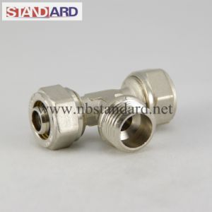 Brass Tee Compression Fitting for Pex Pipe pictures & photos