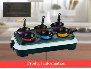 Plancha Grill with 6 PCS Cooker Pot pictures & photos