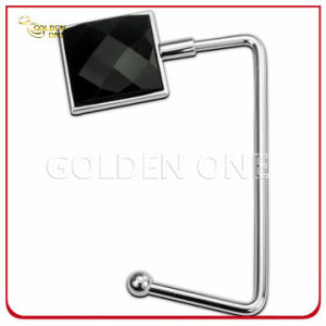 High Quality Shiny Black Gemstone Metal Purse Hanger pictures & photos