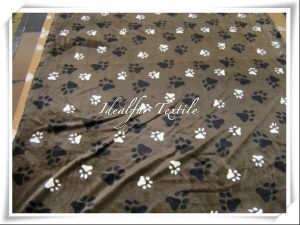 Plush Fur Fabric with Printed pictures & photos
