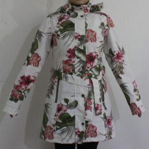 White Basement Flower PVC Raincoat for Adult pictures & photos