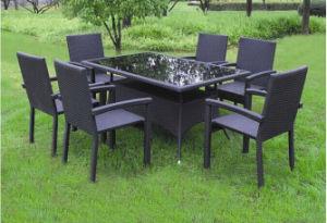 Outdoor Rattan Furniture Dining Table Garden Patio Modern Hotel Chair