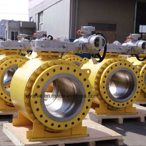 Forged Steel A105 F304 Big Size Flange End Ball Valve pictures & photos