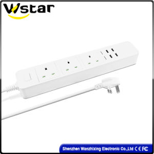 High Quality UK Electric Socket /Wall Socket with 4 USB Port pictures & photos