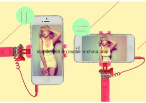 Flower Style Mini 12cm Handy Wired Remote Selfie Stick Pen Size Monpod Selfie Stick Telescopic Phone Holder pictures & photos