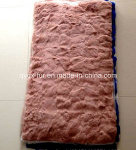Factory Direct Supply Dyed 100% Real Rex Rabbit Fur Plate for Garments