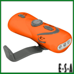 Rechargeable Flashlight with Radio and Mobile Charger, Rechargeable Flashlight, 3 LED Hand Crank Dynamo Flashlight/Torch G01e116 pictures & photos