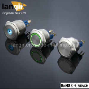 Langir Bi-Color LED Push Button Switch (16mm, 19mm, 22mm, 25mm, 30mm) pictures & photos