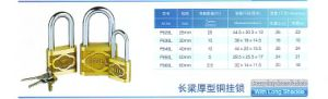 P825L Cast Brass Padlock with Long Shackle pictures & photos