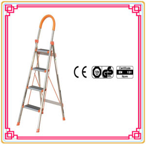 Stainless Steel Step Ladder with 4 Steps pictures & photos