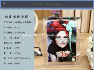 Freesub Sublimation Glass Craft for Photo Frame (BL-02) pictures & photos