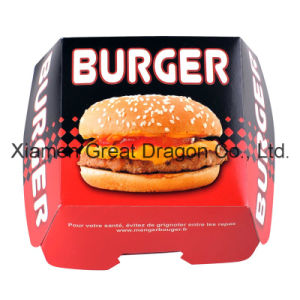 13cmx4cm Set of 6 Prefolded Boxes Burger Boxes (BB007) pictures & photos