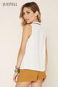 OEM Tie-Neck Ruffled Tank Tops pictures & photos
