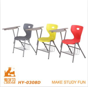 Single Wooden School Student Chair with Writing Tablet pictures & photos