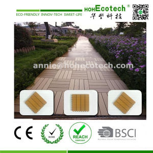 Wood Plastic Composite Solid Board Decking Tile pictures & photos