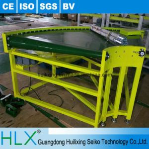 Hlx PVC Belt Type Curved Conveyor with Adjustable Speed pictures & photos