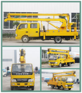 4*2 Overhead Working Truck Hydraulic Aerial Cage pictures & photos