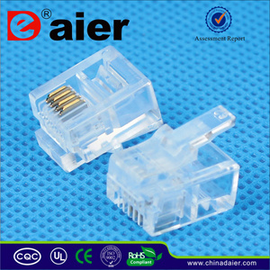 4p4c Modular Plug Rj11 Telephone Plug pictures & photos
