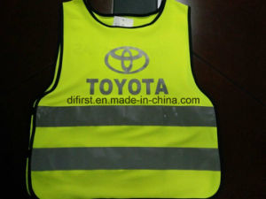 Safety Vest Flu Yellow 100%Polyester Knitting Fabric pictures & photos