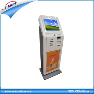 Lobby Standing 17′′ LCD Infrared Coin Accepted Touch Screen Kiosk pictures & photos